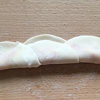 玫瑰花卷饺子的做法图解3