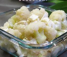 橄榄油花菜拌蛋白丁的做法