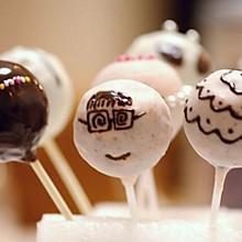 手绘棒棒糖蛋糕——抹茶蛋糕体