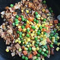 饭菜合一的营养低卡简餐-培根炒饭的做法图解6