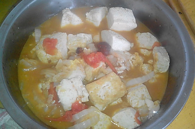 家常豆腐炒白菜