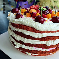 红丝绒裸蛋糕的做法图解21