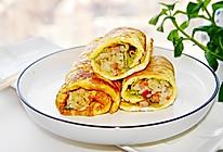 #换着花样吃早餐#蛋卷饭的做法