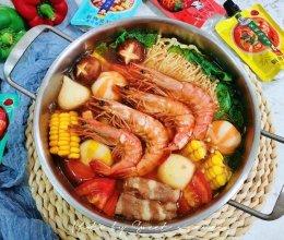 冬日大虾寿喜锅的做法