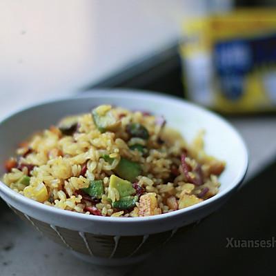 牛油果咖喱炒饭