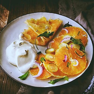 详细讲解 奶油水果可丽饼
