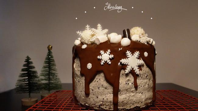 第一次就能成功的可可戚风蛋糕#令人羡慕的圣诞大餐#的做法