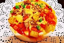 #豆果10周年生日快乐#金枪鱼杂蔬薄底披萨(简易版)的做法