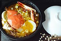 酸菜酸子蟹年糕汤的做法