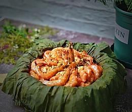 #晒出你的团圆大餐#荷叶粉丝叫花虾的做法