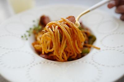 酸酸哒可开胃了!算是日本料理的「拿波里意面」