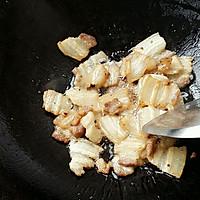 五花肉炒蒜苔的做法图解3