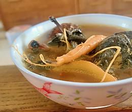 小姨妈老火汤:人参桂圆冬菇煲乌鸡汤的做法