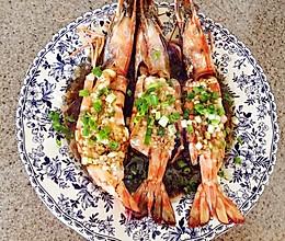蒜茸粉丝豉汁蒸大虾的做法