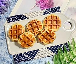 #馅儿料美食,哪种最好吃# 无油酵母版华夫饼的做法