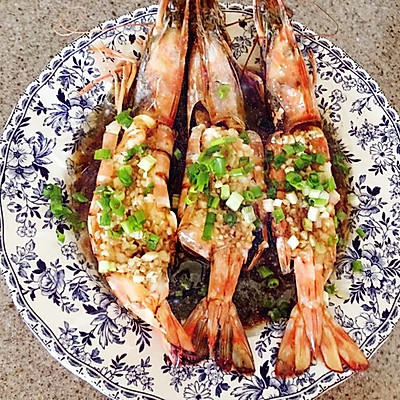 蒜茸粉丝豉汁蒸大虾