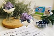 Kiri乳酪冰淇淋配蓝莓香缇奶油的做法