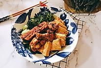 可乐鸡翅炖牛扒豆腐的做法