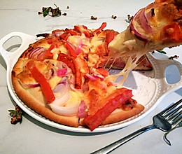 简易版烤披萨的做法