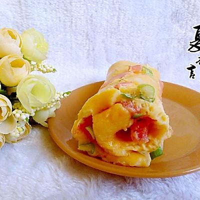西红柿鸡蛋饼
