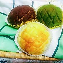 三色奶酥菠萝包