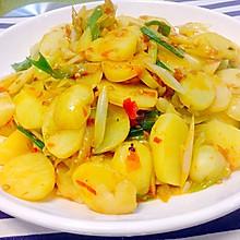 剁椒炒小土豆片