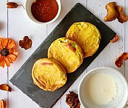 彩椒鸡胸鸡蛋饼--营养又有颜值的早餐的做法
