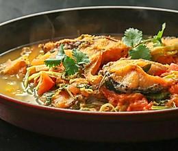蔬菜煮鱼味道妙,葱姜蒜再见!的做法