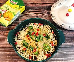 #我们约饭吧#夏日爽口小凉菜~凉拌金针菇的做法
