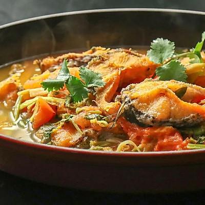 蔬菜煮鱼味道妙,葱姜蒜再见!