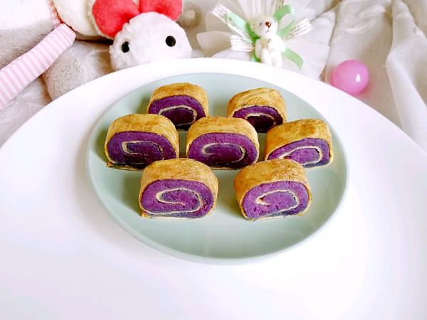 紫薯鸡蛋卷的做法