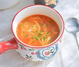 #今天吃什么#酸酸甜甜的茄汁金针菇的做法