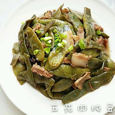 东北带表菜 五花肉炖豆角