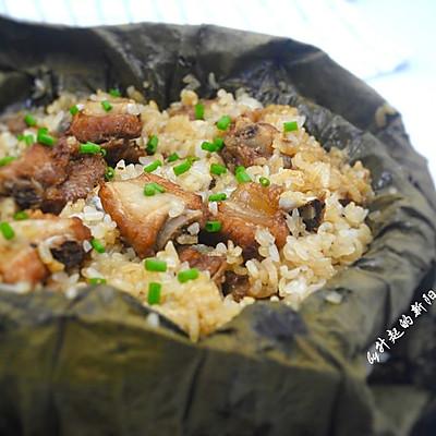 荷叶糯米蒸排骨