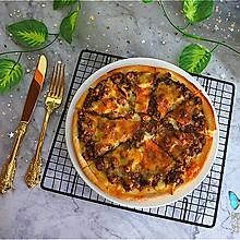 #餐桌上的春日限定#黑椒牛肉披萨