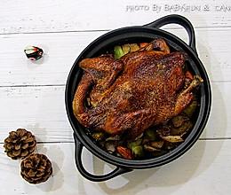 顺小煮-空气炸锅版田园烤整鸡的做法