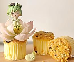 #豆果10周年生日快乐#翻糖小蛋糕 肉松海苔杯的做法