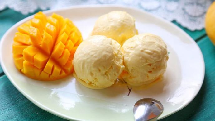 无蛋无须搅拌芒果冰淇淋#膳魔师夏日魔法甜品#