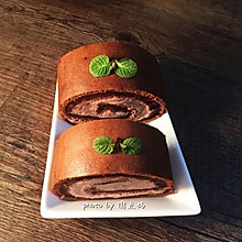 #美味下午茶#可可蛋糕卷