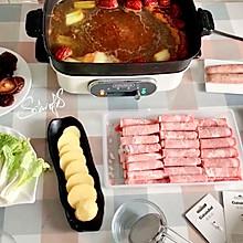 #冬天就要吃火锅#家里的火锅(含自制火锅麻酱小料做法)