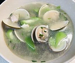 蛤蜊丝瓜汤,特别的鲜~的做法