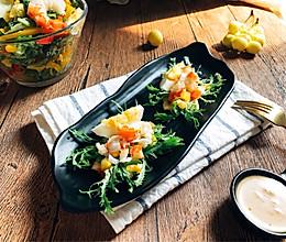 减脂快手冷餐 苏打饼三明治 红虾鸡蛋沙拉早餐的做法