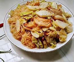 五花肉白菜炒粉丝的做法
