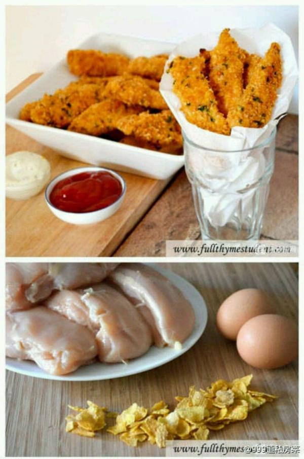 超诱人的玉米片脆皮烤鸡的做法