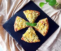 培根薄底披萨(含披萨底做法)的做法