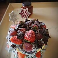 轻乳酪草莓巧克力片 裸蛋糕的做法图解4