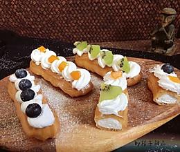小清新的水果奶油闪电泡芙#相约MOF#的做法