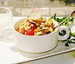 #全电厨王料理挑战赛热力开战!#蔬果麦片沙拉的做法