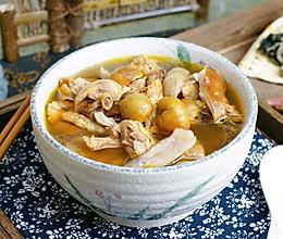 松茸菌板栗鸡汤的做法