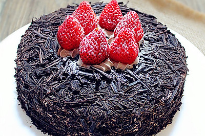 巧克力草莓蛋糕#九阳烘焙剧场#